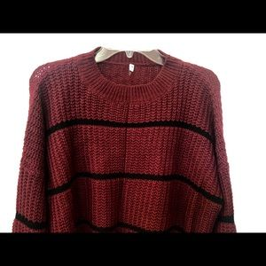 Sweaters - Cropped Maroon Sweater